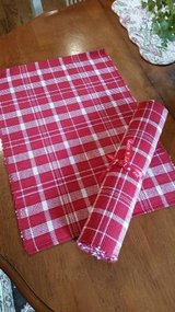 Red and White Placemats - 4 -New in Orland Park, Illinois