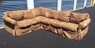 Tan Neutral Rowe Furniture Slip-Covered Sectional Couch in Camp Lejeune, North Carolina