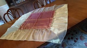 Tablecloth / Cover- Gold and Light Burgundy with Beading in Westmont, Illinois