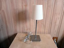 ikea stainless steel table lamp with on/off in Lockport, Illinois