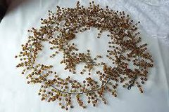 Pottery Barn Garland - Amber Glass Beads - 5 ft. Great for Christmas Decorating in Westmont, Illinois