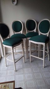 French Louis XVI Style Bar Stools French Louis Style Counter Stools Round Back Bar Stools in Kingwood, Texas