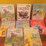 8 vintage little golden books ~ sesame street characters/ stories in Naperville, Illinois