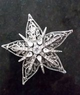 Brooch / Pin -Star Shape with Clear Crystals in Orland Park, Illinois
