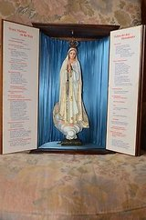very nice antique holy cabinet with Saint Madonna and prayers at the sides in Ramstein, Germany