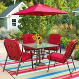 Set of (4) Lawson Ridge Patio Chairs (Red) - NEW! in Lockport, Illinois