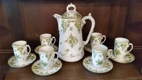 Chocolate Pot Set - Chocolate Pot and 6 Cups and Saucers - Mint in Aurora, Illinois