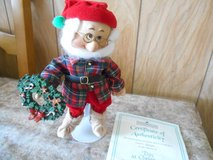 """ASHTON DRAKE GALLERY: 7"""" SNOW WHITE Dwarf Figurine """"DOC"""" in his Christmas outfit. """"DOC"""" is holdi... in Bellaire, Texas"""