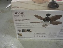 *Home Decorators Fan  Collection Palm Cove 52 in. Indoor/Outdoor Natural Ir in Glendale Heights, Illinois