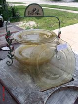 Depression Glass Plates & Holder in Bolingbrook, Illinois