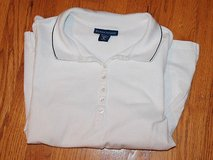 Karen Scott White Collared 1/4 Button Front, 3/4 Sleeve in Glendale Heights, Illinois