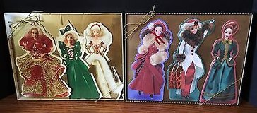 Lot of 2 Hallmark Holiday Barbie Collection Displayable Greeting Cards 1995 & 1996 in Naperville, Illinois