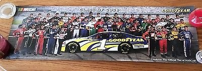 The Class of 2006 – Goodyear Nascar Drivers - 34In x 11in poster – mint in St. Charles, Illinois