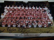1997 SF 49er's Autographed Team Photo in Travis AFB, California
