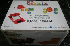 New Sizzix Shadowbox Punctuation Die Set ' ? . , # ! $ & - Shadow Box in Glendale Heights, Illinois