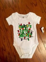 Daddy's Little Helper Christmas Onesie - sz 6-9 Months *NEW!* in Camp Lejeune, North Carolina