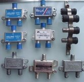 lot of 7: cable / satellite / coax splitters / (2 combiners) & coupling block in Naperville, Illinois