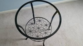 IKEA round metal/glass end/night table in Fairfax, Virginia