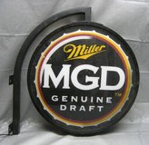 RARE DOUBLE-SIDED MILLER MGD LIGHTED SIGN in Naperville, Illinois