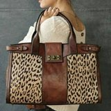 FOSSIL LEATHER & LEOPARD  PURSE in Lockport, Illinois