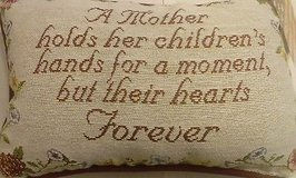 """sentiment pillow """" a mother's pillow"""" in Moody AFB, Georgia"""