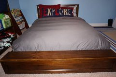 Pottery Barn platform bed with mattress-Full in Fairfax, Virginia