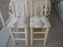 SOUTHWESTERN STYLE BAR HEIGHT CHAIRS-PAIR in Yucca Valley, California