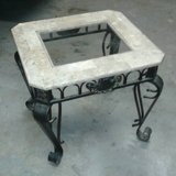 Marble & Metal End Table in Houston, Texas