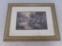 thomas kinkade & beautiful & cobblestone lane painting with elegant frame 100160 in Fort Carson, Colorado