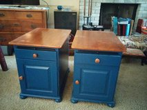 Solid  wood end tables- blue in Kingwood, Texas