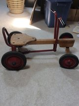 vintage radio flyer row cart ~  ride on childs toy ~ wooden & metal in Tinley Park, Illinois