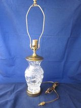 WATERFORD CRYSTAL Glass & Brass Lamp Ginger Jar Urn Vase in Naperville, Illinois