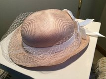 Woman's Hat--champagne w/cream band & satin bow in Bartlett, Illinois