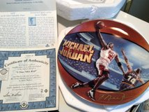 Michael Jordan Plates (2)--5 Time NBA-MVP plate in Westmont, Illinois