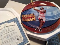 Michael Jordan Plates (2)--Eastern Conference Champion in Westmont, Illinois