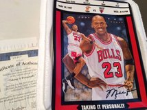 "Michael Jordan Plate--""Taking It Personally"" in Westmont, Illinois"