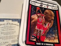 "Michael Jordan - Hanging Plate--""Heart of a Champion"" in Westmont, Illinois"