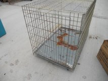 dog crate kennel - pet playpen cage w/ metal tray pan 48 by 30 60429 in Fort Carson, Colorado