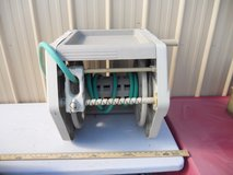 pre-owned ames reeleasy wall mount hose reel with accessory tray 60391 in Huntington Beach, California