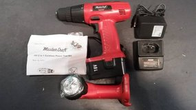 NIB - 2 Master Craft Combo-18V Cordless Drills & Work Lights w/Battery&Chargers in Morris, Illinois
