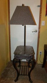 """Lamp/Table with lamp  $55  """"The Back Forty"""", Adel in Moody AFB, Georgia"""