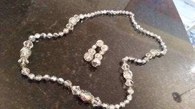 Crystal Necklace and Earrings - Very Sparkly in Plainfield, Illinois