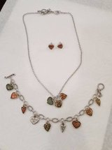 Brighton Picadilly Hearts Necklace, Bracelet and Earring Set in Orland Park, Illinois
