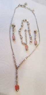 Brighton Rigoletto Pink Necklace, Bracelet and Earring Set in Orland Park, Illinois