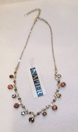 Napier Crystal Necklace - Golden Brown Sparkly Crystals in Bolingbrook, Illinois