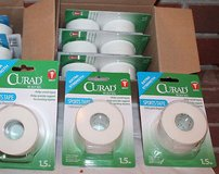 NWT Curad White Sports Tape, Extra Strength, 1.5 in x 10 yds ~~ 9 Rolls Total in Joliet, Illinois