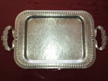 VINTAGE HAMMERED SERVING TRAY - in Algonquin, Illinois