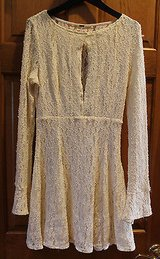 NWT Free People Ivory Lace Dress, Adj Keyhole Neck, Long Sleeve, S, Retail $128 in Naperville, Illinois