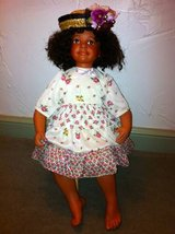 Baby Shay African Amercan Porcelain Girl Sitting Doll - Large in Chicago, Illinois