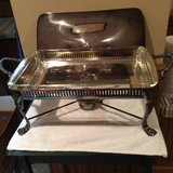 Silver Plate --Chafing Dish/Server w/lid in Wheaton, Illinois